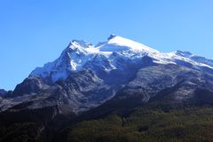 De sneeuwbergen van Haba Stock Foto's