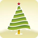De sneeuwboom van Kerstmis (vector) Stock Afbeelding
