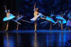 De sneeuwelf de schaatsen-eerste handeling van het vierde Land van de gebiedssneeuw - de Balletnotekraker stock afbeelding
