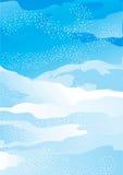 De sneeuwlandschap van de winter royalty-vrije illustratie