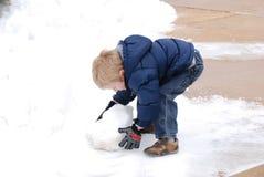 De sneeuwman royalty-vrije stock foto