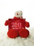 De sneeuwman 2011 van Kerstmis Royalty-vrije Stock Afbeelding