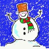 De sneeuwman van Childs royalty-vrije illustratie