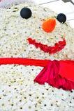 De sneeuwman van de bloem Royalty-vrije Stock Afbeeldingen