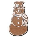De sneeuwman van de peperkoek Stock Afbeeldingen