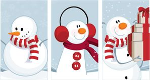 De sneeuwman van de winter Stock Fotografie
