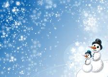 De Sneeuwman van de Winter van Kerstmis royalty-vrije illustratie