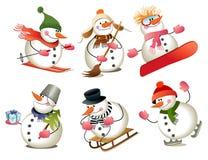De sneeuwman van het beeldverhaal Royalty-vrije Stock Afbeelding