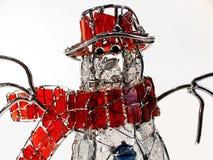 De Sneeuwman van het glas Royalty-vrije Stock Afbeeldingen