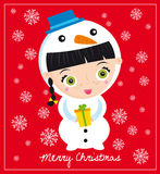 De sneeuwman van Kerstmis Royalty-vrije Stock Afbeeldingen