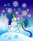 De sneeuwman van Kerstmis Stock Fotografie