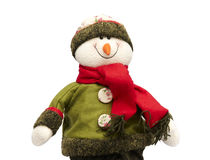 De sneeuwman van Kerstmis Stock Foto's