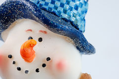 De sneeuwman van Kerstmis op witte achtergrond Royalty-vrije Stock Afbeeldingen