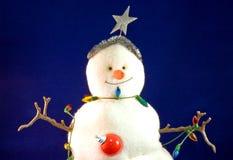 De sneeuwman van Kerstmis van het stuk speelgoed Stock Afbeeldingen