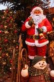 De sneeuwman van de Kerstmiskerstman Royalty-vrije Stock Afbeelding