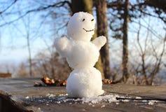De sneeuwman van Smilling Stock Afbeelding