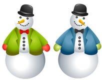 De Sneeuwmannen van het beeldverhaal knippen Art. royalty-vrije illustratie