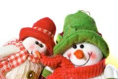 De Sneeuwmannen van het stuk speelgoed Stock Fotografie