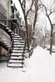 De sneeuwonweer van Montreal royalty-vrije stock fotografie