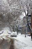 De sneeuwonweer van Montreal stock afbeelding