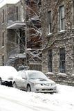 De sneeuwonweer van Montreal royalty-vrije stock afbeeldingen