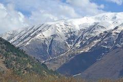 De sneeuwpieken van de Kaukasus Royalty-vrije Stock Foto