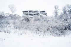 De sneeuwscène van de huiswinter Stock Afbeeldingen