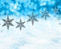 De sneeuwscène van Kerstmis Royalty-vrije Stock Afbeelding