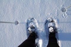 De sneeuwschoenen Stock Fotografie