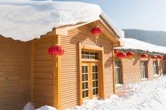 De sneeuwstad Royalty-vrije Stock Foto