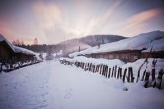 De sneeuwstad van China royalty-vrije stock afbeeldingen