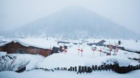 De sneeuwstad van China royalty-vrije stock fotografie