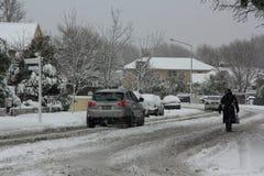 De Sneeuwval 2011 van Christchurch Royalty-vrije Stock Fotografie