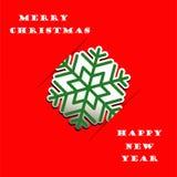 De sneeuwvlok applique vectorachtergrond van Kerstmis Royalty-vrije Stock Afbeeldingen