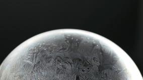 De Sneeuwvlok Frosing en het Ontdooien van de sneeuwbol stock video