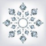 De sneeuwvlok maakte heel wat van diamanten Stock Foto's