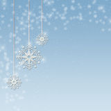 De sneeuwvlok siert Blauw vector illustratie