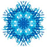 De sneeuwvlok van de caleidoscoopwaterverf royalty-vrije illustratie