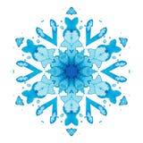 De sneeuwvlok van de caleidoscoopwaterverf stock illustratie