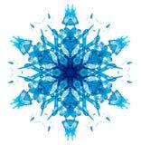 De sneeuwvlok van de caleidoscoopwaterverf vector illustratie