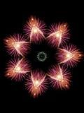 De Sneeuwvlok van het vuurwerk Royalty-vrije Stock Fotografie