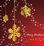 De sneeuwvlok van Kerstmis Stock Foto