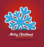 De sneeuwvlok van Kerstmis applique Stock Foto