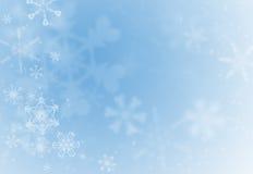 De sneeuwvlokachtergrond van de vakantie royalty-vrije illustratie