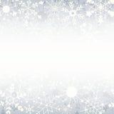De sneeuwvlokachtergrond van de winter met exemplaarruimte Royalty-vrije Stock Foto