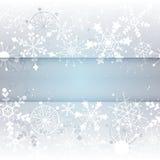 De sneeuwvlokachtergrond van de winter met exemplaarruimte Royalty-vrije Stock Afbeeldingen