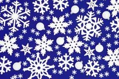 De sneeuwvlokachtergrond van Kerstmis royalty-vrije stock afbeelding