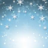 De sneeuwvlokachtergrond van Kerstmis Stock Foto's