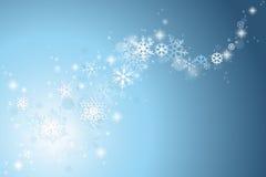 De sneeuwvlokachtergrond van Kerstmis vector illustratie