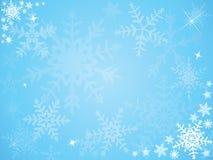 De sneeuwvlokachtergrond van Kerstmis Stock Afbeelding
